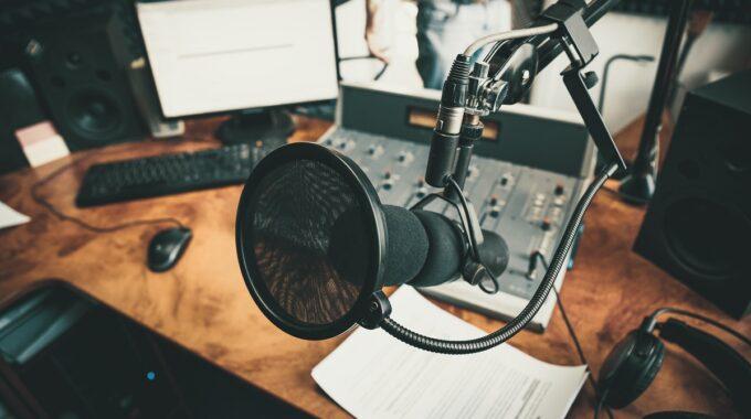 Bild Eines Podcaststudios